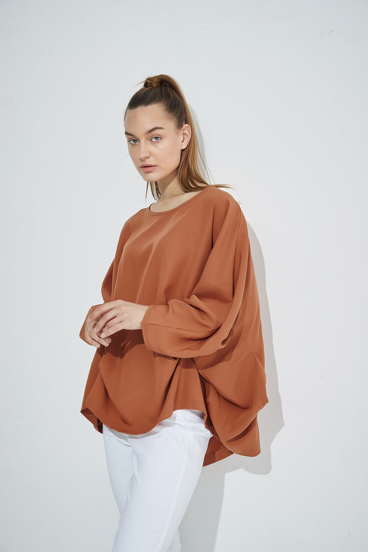 Dolman Sleeve Top - Rust