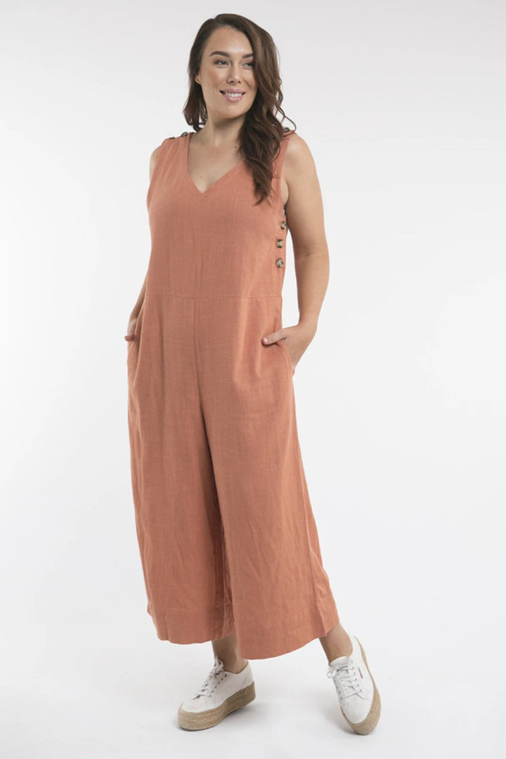 Penny Jumpsuit - Copper - Shop Online At Mookah - mookah.com.au