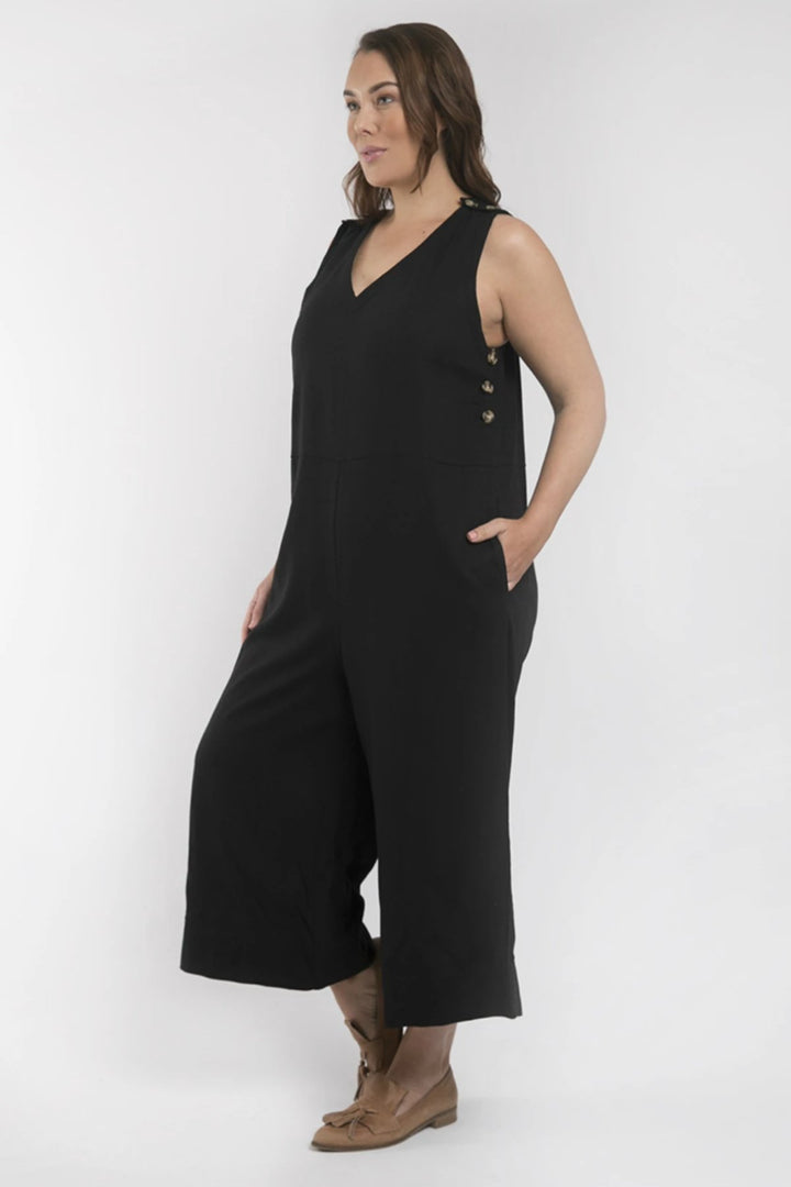 Penny Jumpsuit - Black - Shop Online At Mookah - mookah.com.au