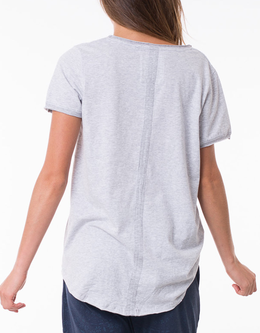 Fundamental Vee Tee - Grey - Shop Online At Mookah - mookah.com.au