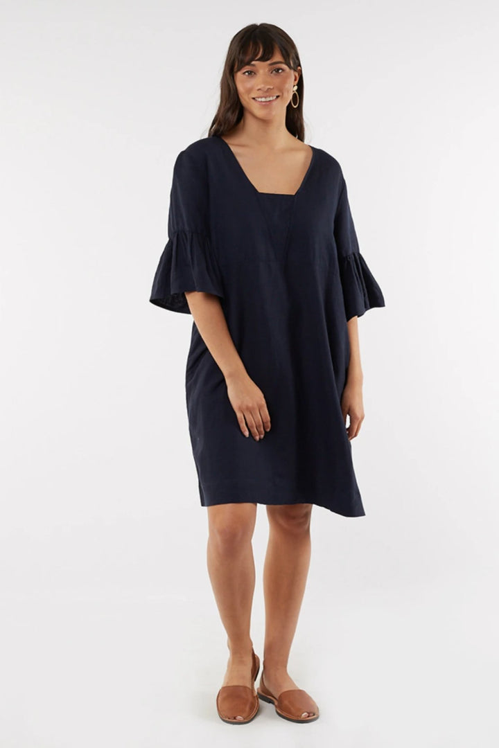 Ellie Dress - Navy - Shop Online At Mookah - mookah.com.au