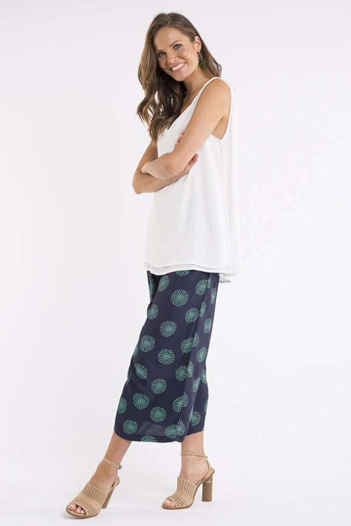 Slone Layer Tank - White - Shop Online At Mookah - mookah.com.au