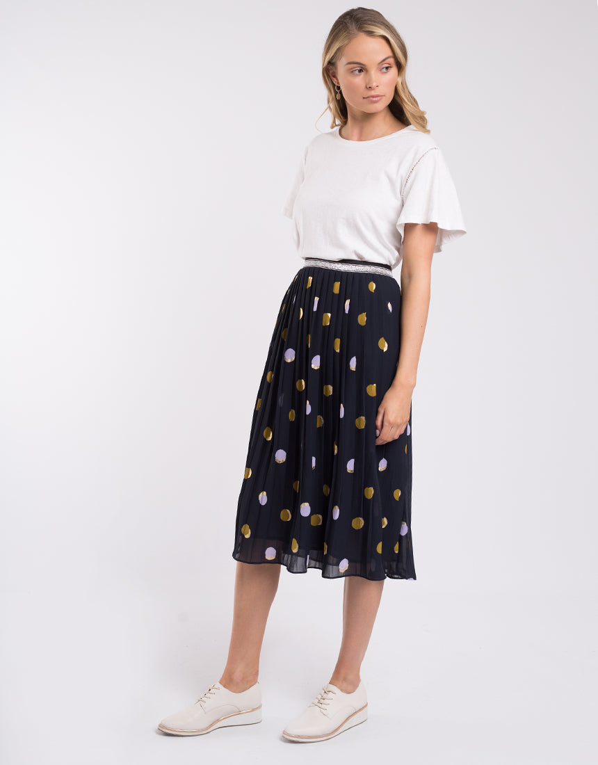 Spot Soft Pleat Skirt