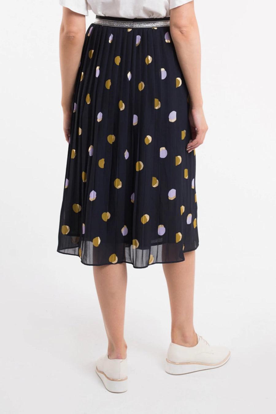 Spot Soft Pleat Skirt - Shop Online At Mookah - mookah.com.au