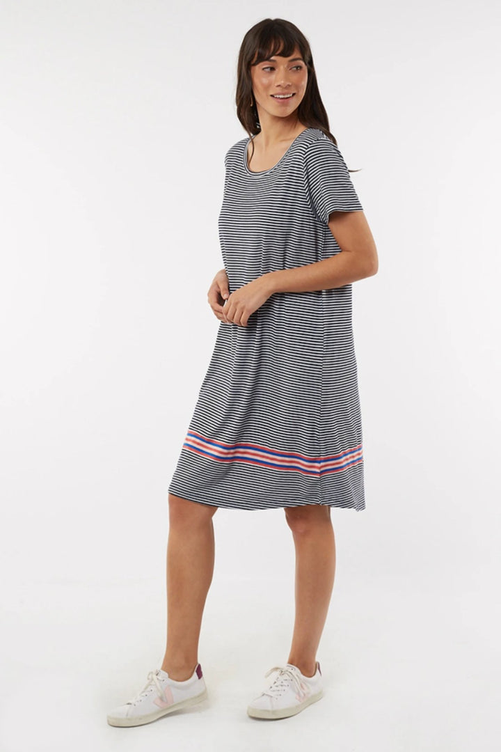 Le Stripe Dress - Navy/White - Shop Online At Mookah - mookah.com.au