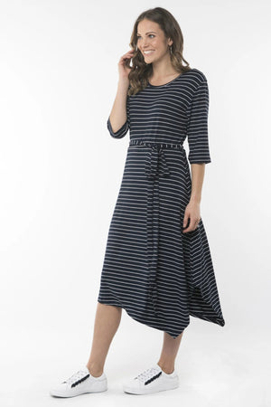 Devoted Stripe Midi Dress - Shop Online At Mookah - mookah.com.au