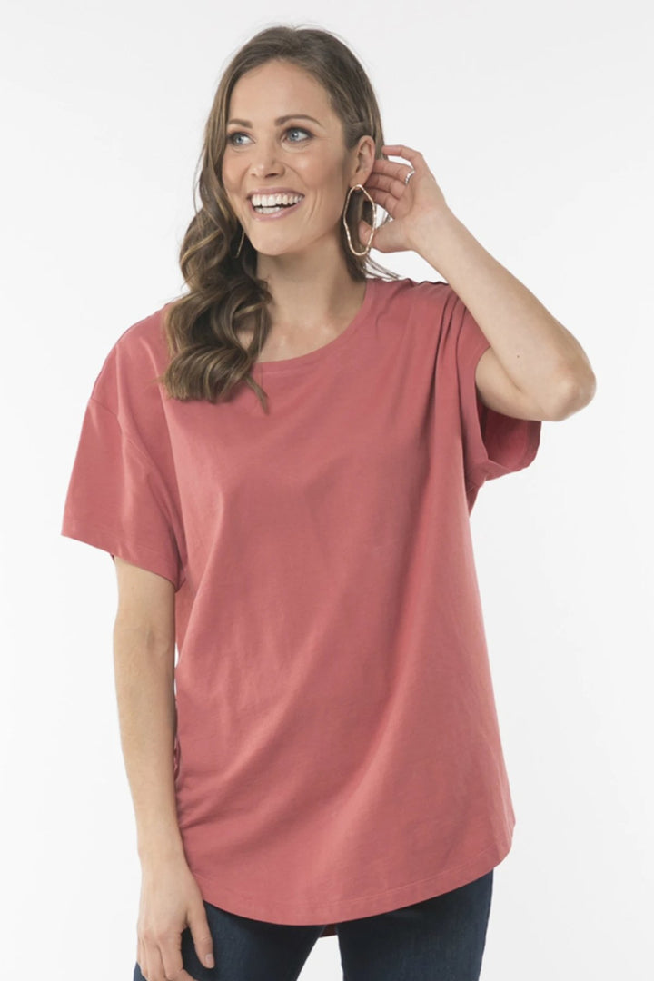 Ellison Tee - Dusty Cedar - Shop Online At Mookah - mookah.com.au