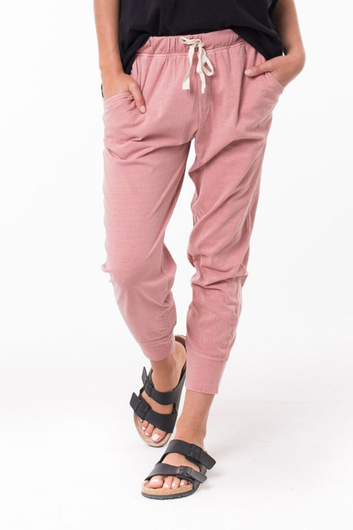 Wash Out Lounge Pant - Pink - Shop Online At Mookah - mookah.com.au