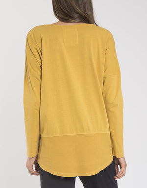Fundamental L/S Rib Tee - Yellow - Shop Online At Mookah - mookah.com.au
