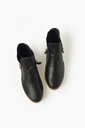 Morgan Leather Boot - Black