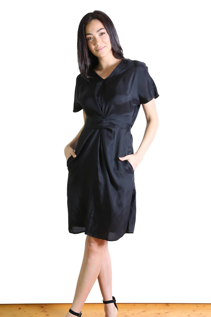Agatha Tie Dress - Black - Shop Online At Mookah - mookah.com.au