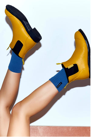 Bobbi Gumboot - Mustard & Black - Shop Online At Mookah - mookah.com.au