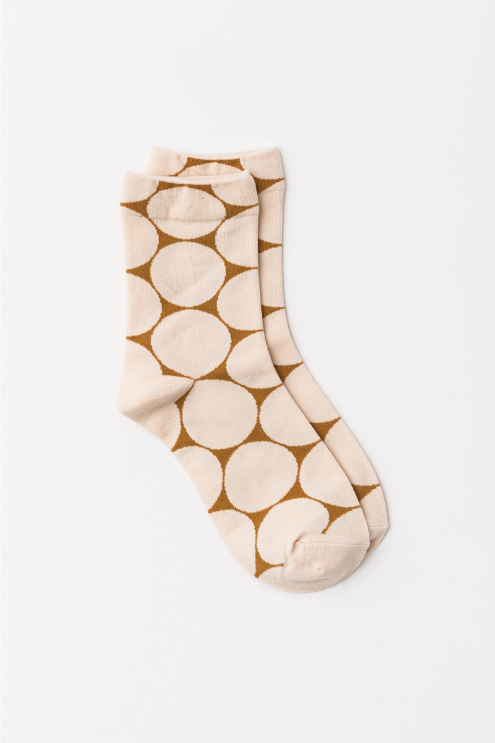 Socks - Creme Coffee Spheres