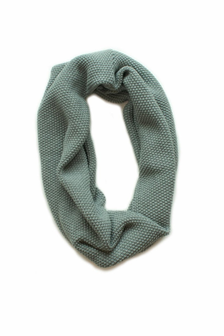 Moss Stitch Loop Scarf - Lt Grey - Shop Online At Mookah - mookah.com.au