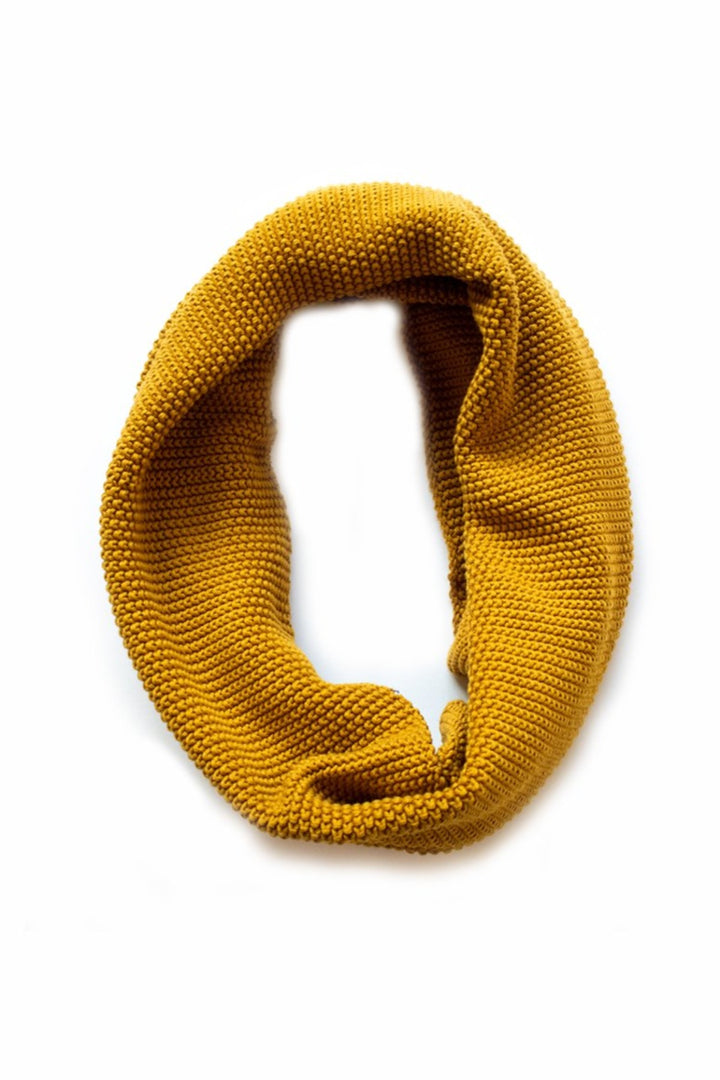 Moss Stitch Loop Scarf - mustard - Shop Online At Mookah - mookah.com.au