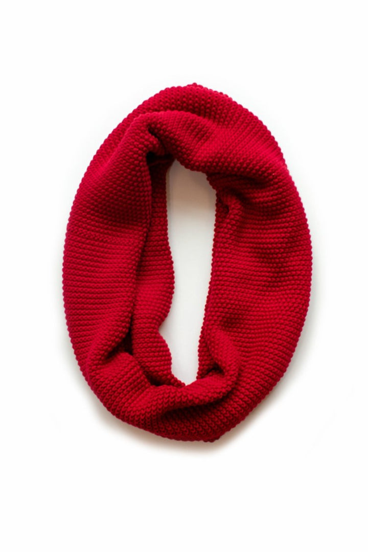 Moss Stitch Loop Scarf - poppy - Shop Online At Mookah - mookah.com.au