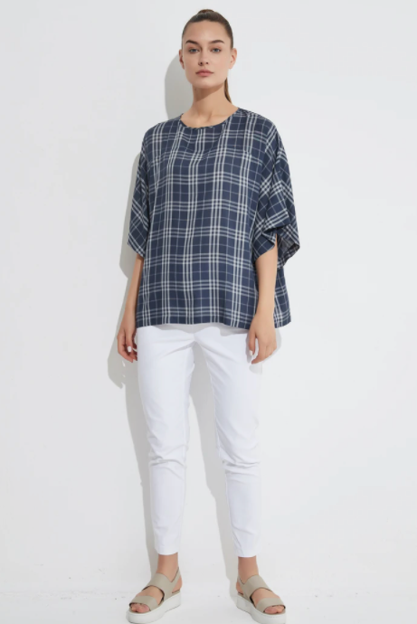 Curved Yoke Top - Gingham