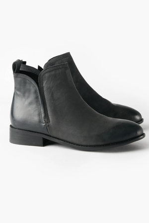 Douglas Leather Boot - Black