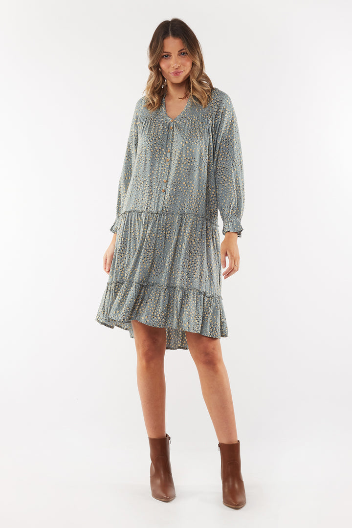 Gillian Dress - Silver Grass Foxwood