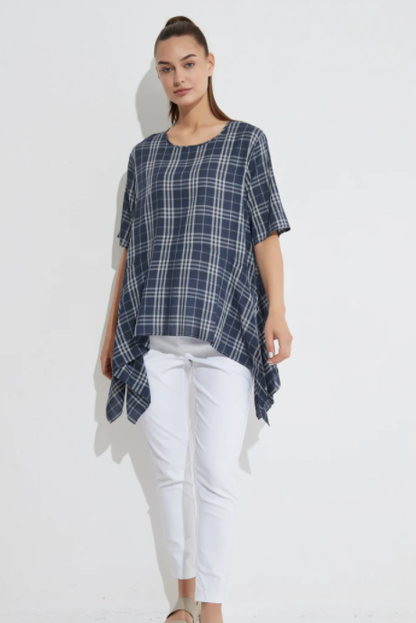 Exaggerated Hem Top - Gingham