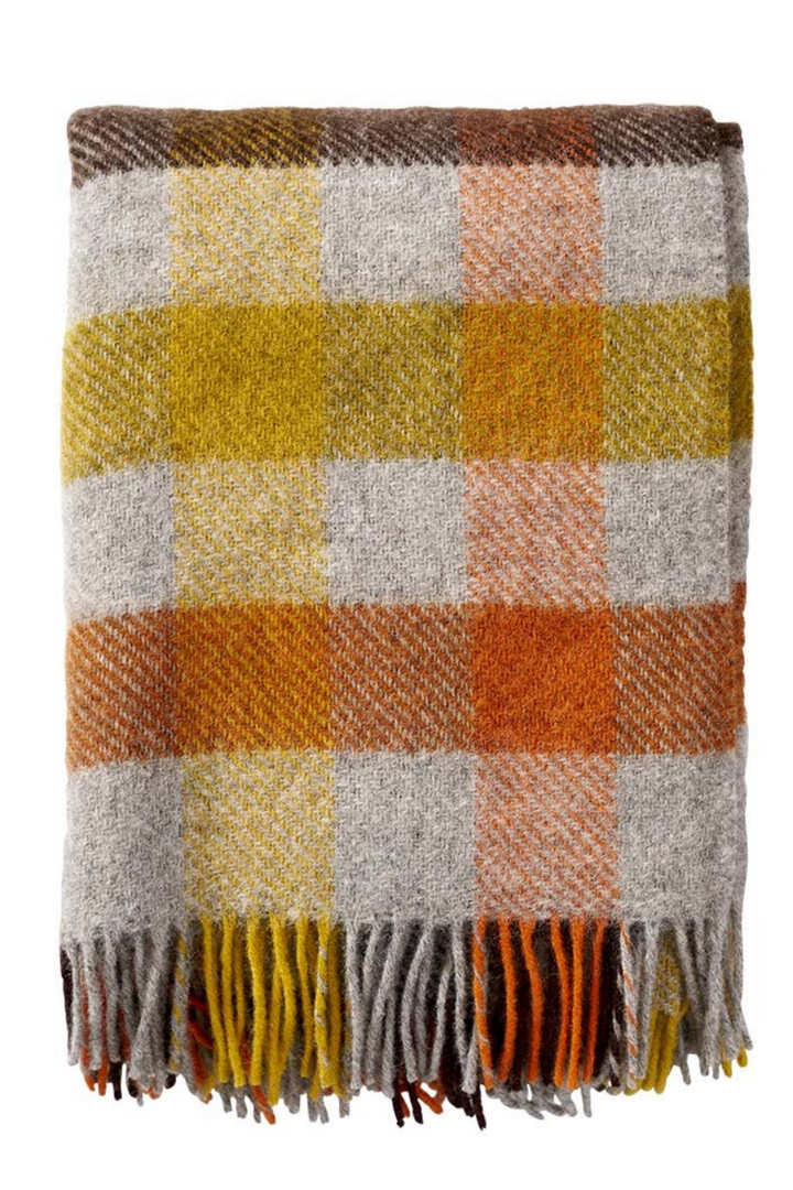 Gotland Multi Blanket - Yellow