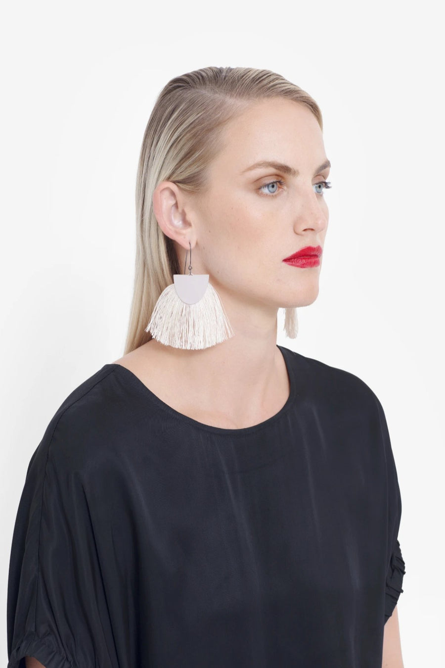 Holm Tassel Earrings - Pink - Shop Online At Mookah - mookah.com.au