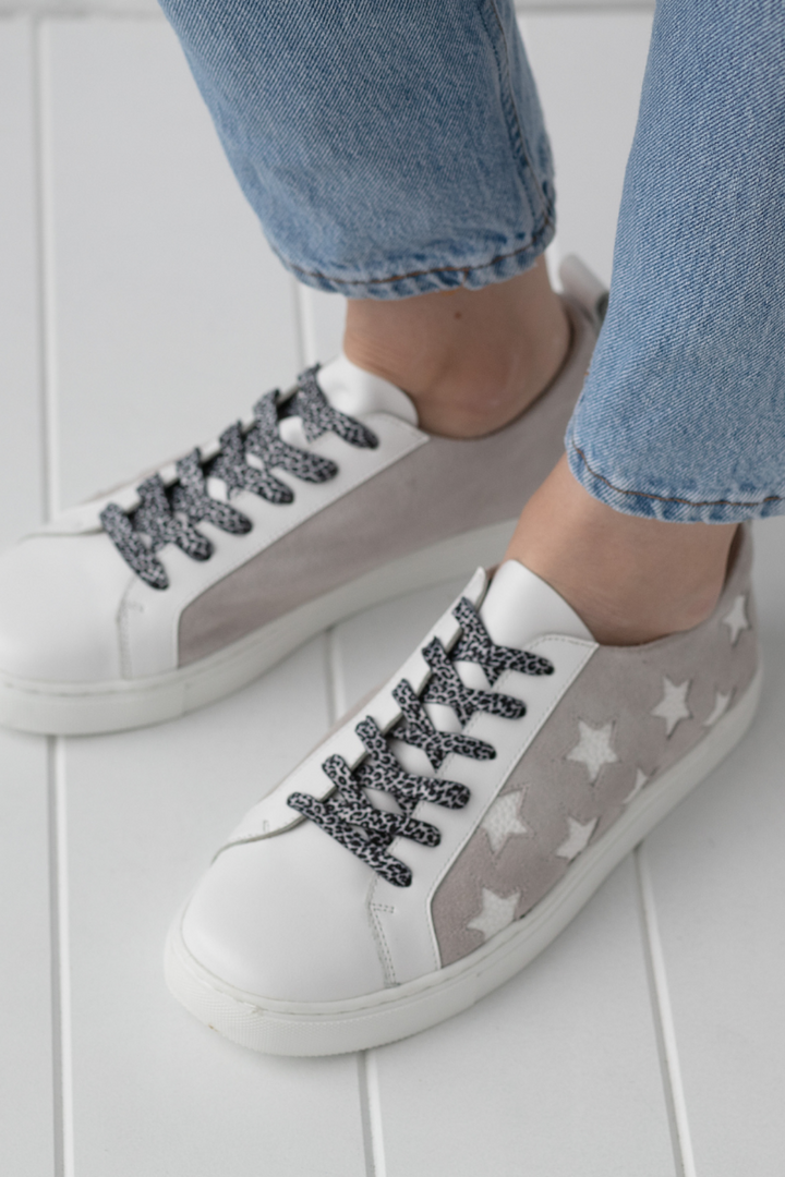 Haven Leather Sneaker - White & Grey