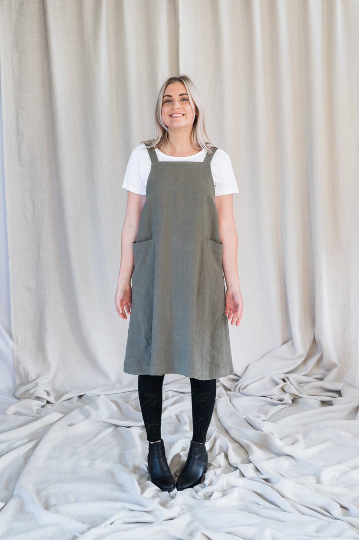 Crossback Tunic - Sage - Shop Online At Mookah - mookah.com.au