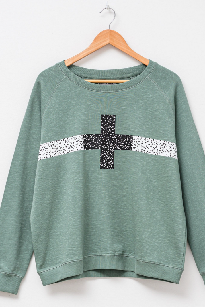 Sweater - Moss/Black Cheetah