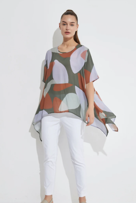 Exaggerated Hem Top - Moss Foliage