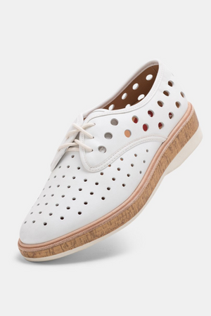 Derby Midsole Cork Circle Punch - White - Shop Online At Mookah - mookah.com.au