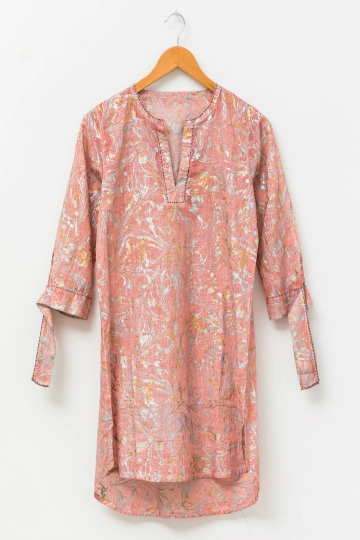 Caftan - Rose/Foil - Shop Online At Mookah - mookah.com.au