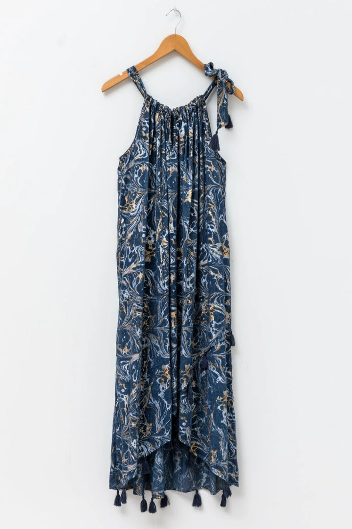 Dress - Navy/Foil - Shop Online At Mookah - mookah.com.au