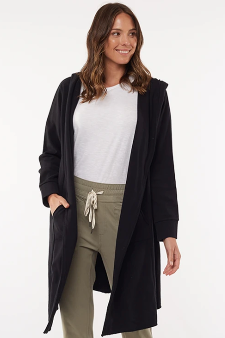 Naomi Hooded Cardigan - Black