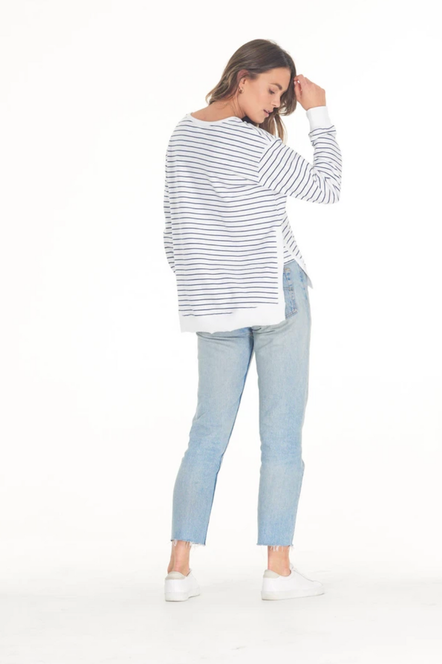 Addyson Sweater - Navy Stripe