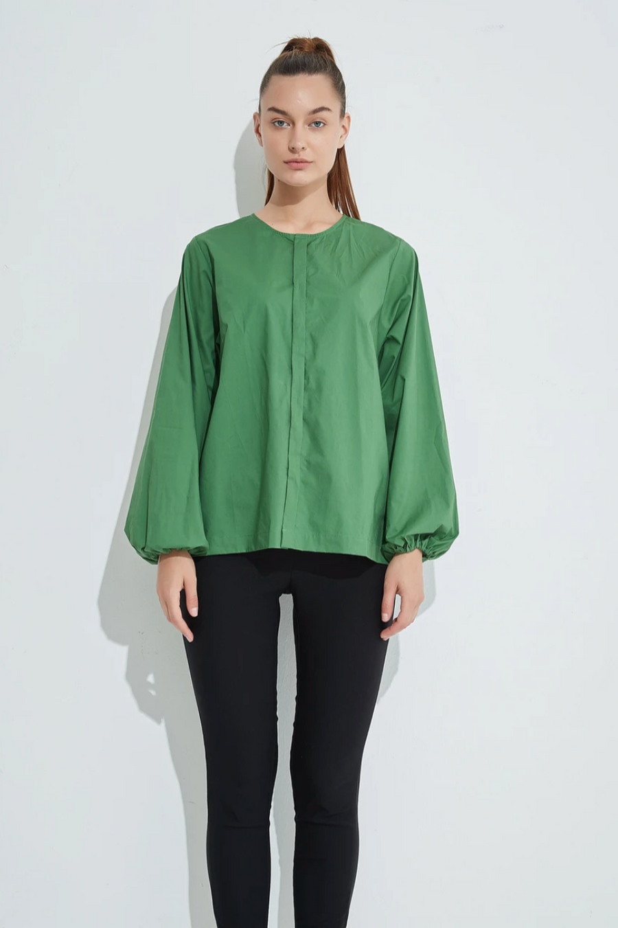 Puff Sleeve Blouse - Fig
