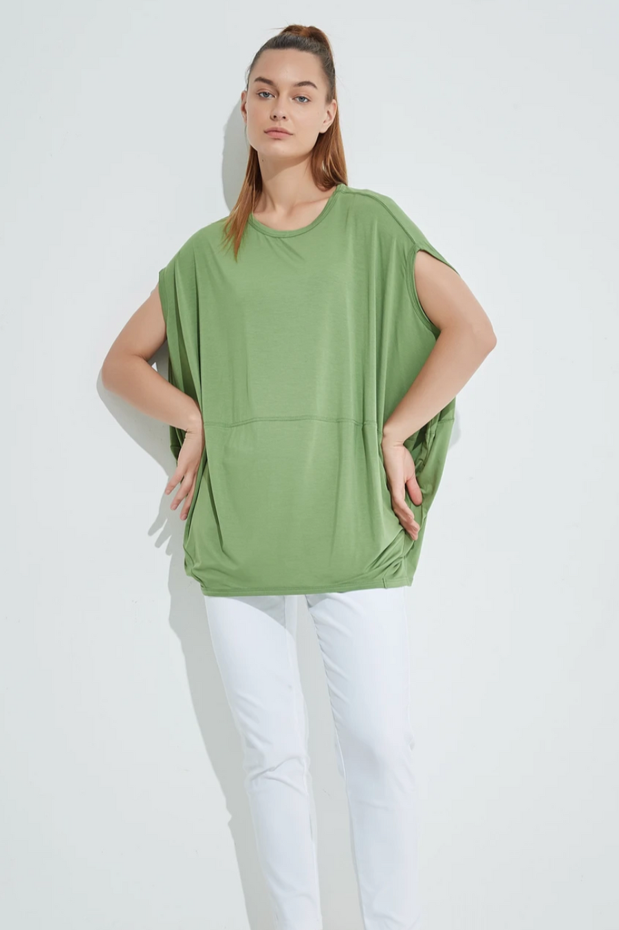 Ovoid Top - Apple Green