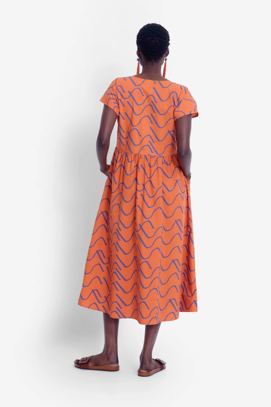 Ollie Dress - Copper/Cobalt
