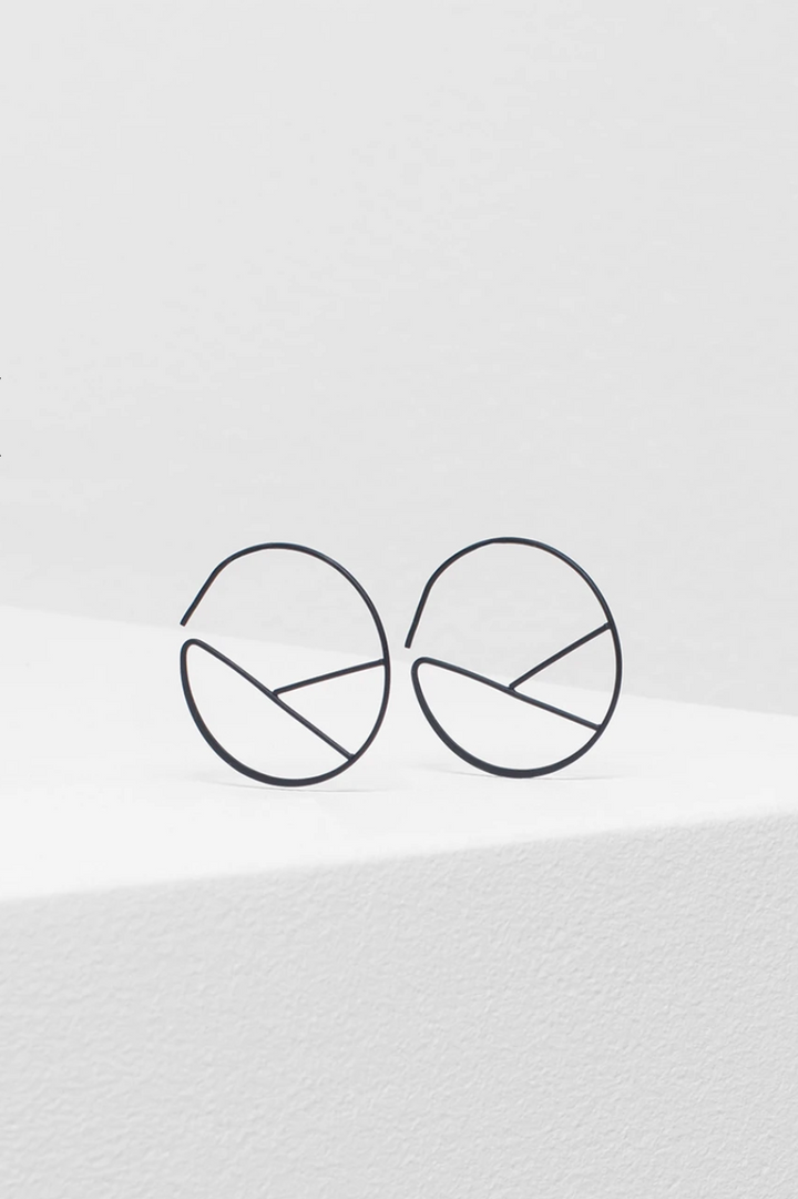 Hallie Earring - Black Matte