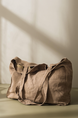 Washed Linen Bag - Matcha
