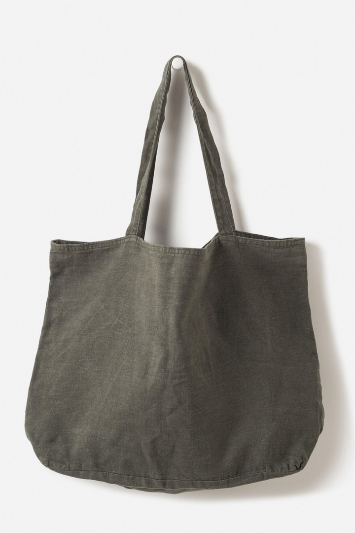 Washed Linen Bag - Nori