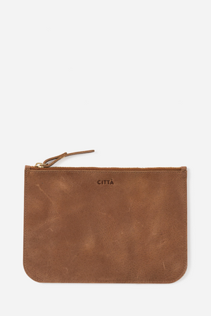 Leather Pouch - Tan