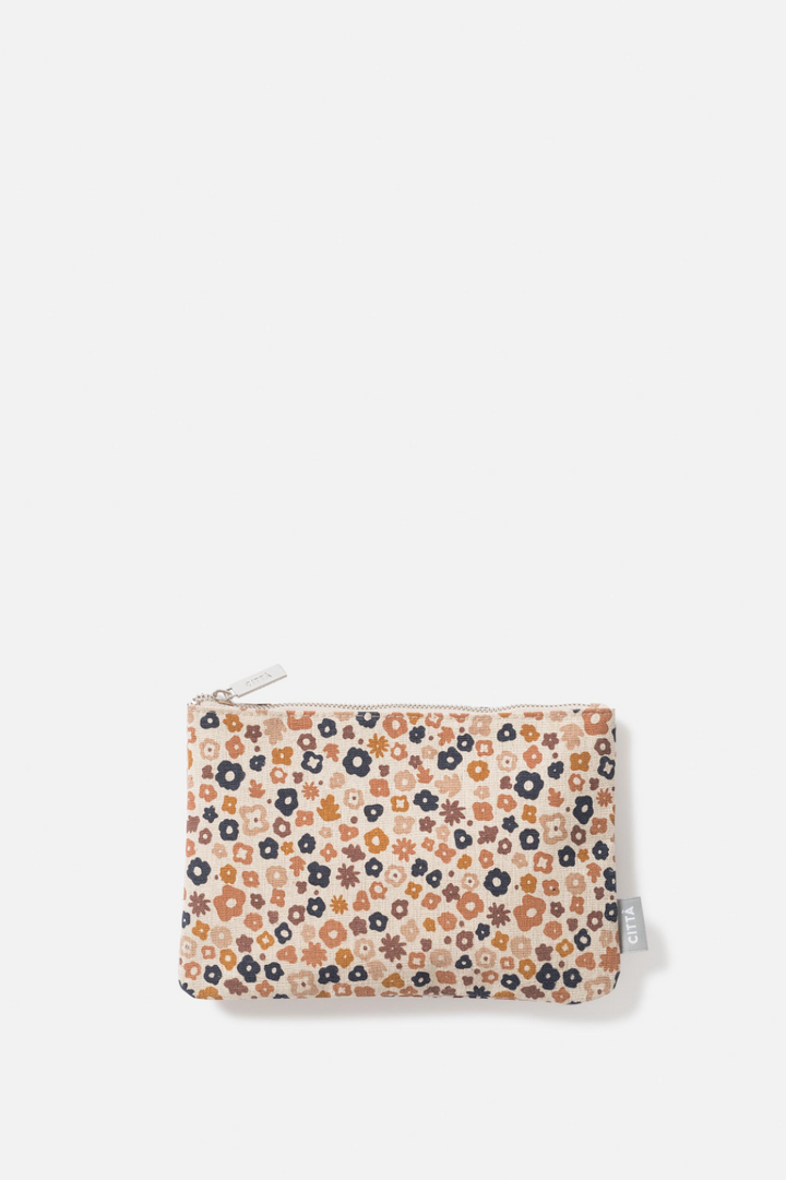 Daisy Flat Purse - Pecan/Multi