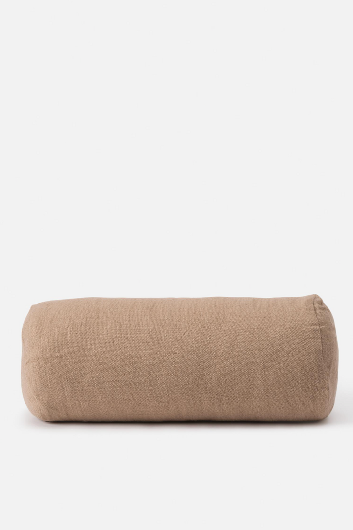 Handwoven Bolster Cushion - Walnut