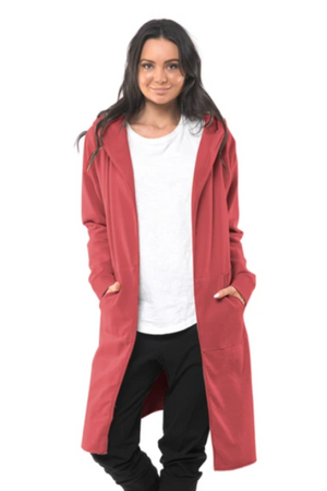 Naomi Hooded Cardigan - Red