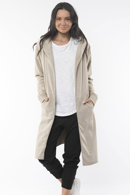Naomi Hooded Cardigan - Sand