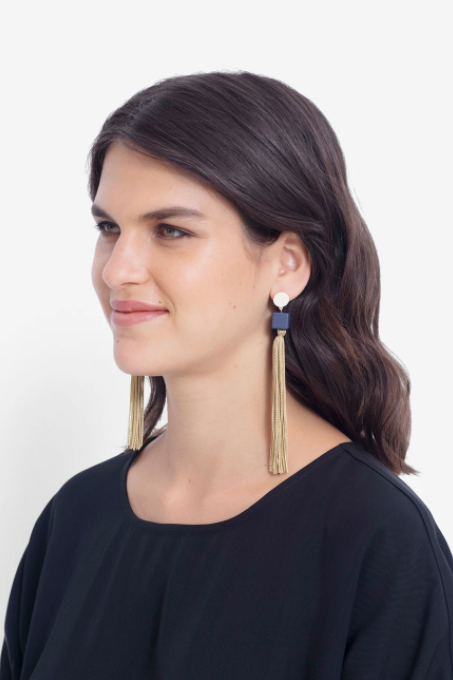 Mai Earring - Champ/Navy/Mint
