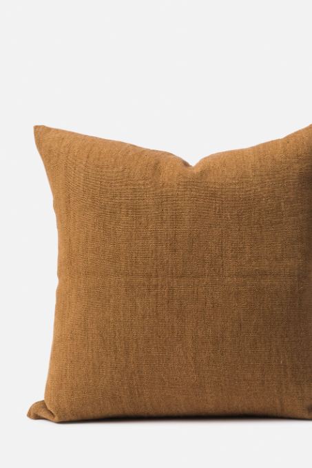 Linen/Jute Cushion - Masala