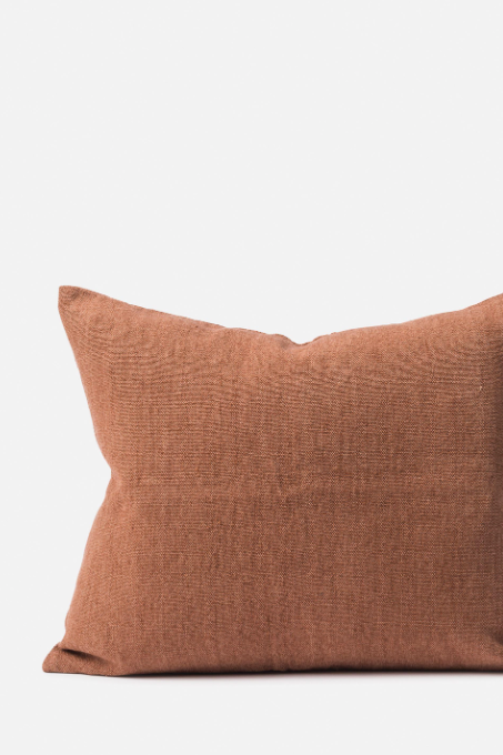 Linen/Jute Cushion - Rose