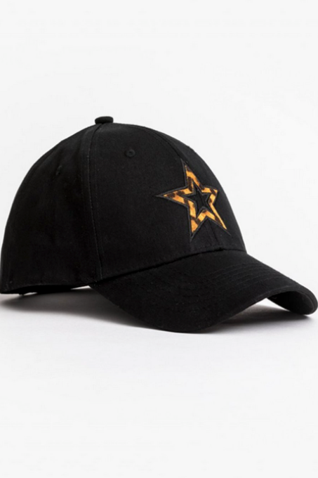 Cap - Black/Leopard Star